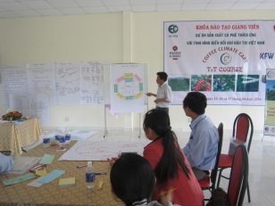 In workshops, farmers contribute to defining and planning suitable adaptation measures.
